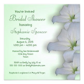 White Lily Bridal Shower Invitation