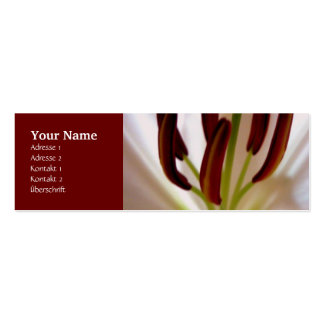 White Lily Double-Sided Mini Business Cards (Pack Of 20)