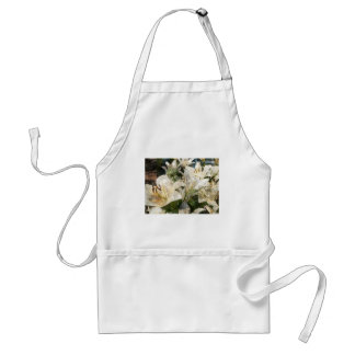 White Lily Easter Art Adult Apron