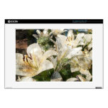 """White Lily Easter Art Decals For 15"""" Laptops"""