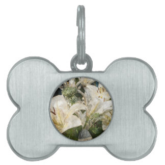 White Lily Easter Art Pet Tag