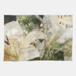 White Lily Easter Art Towel