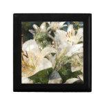 White Lily Easter Art Trinket Boxes