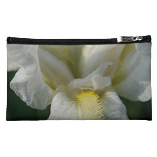 White Lily Flower Bagettes Cosmetic Bag