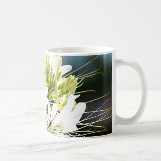 White lily flower coffee mug