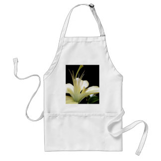White Lily Flower Lilies Flowers Photo Adult Apron