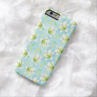 White Lily Flower Phone Case Watercolor Florals Barely There iPhone 6 Case