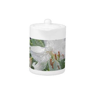 White Lily Garden near Water Teapot