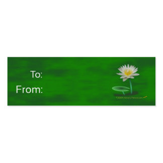 White Lily Gift Tags Double-Sided Mini Business Cards (Pack Of 20)