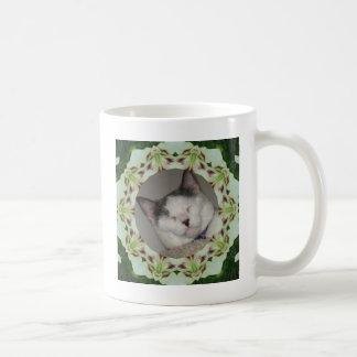 White Lily Kaleidoscope Photo Frame Coffee Mug