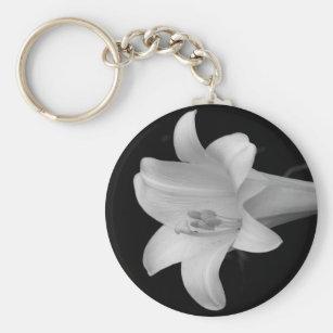 White Lily Keychain
