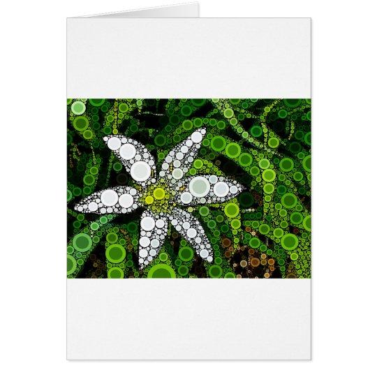 White Lily Mosaic Card