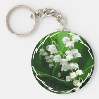 White Lily of the Valley keychain