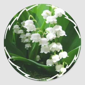 White Lily Of The Valley Stickers by PerennialGardens at Zazzle