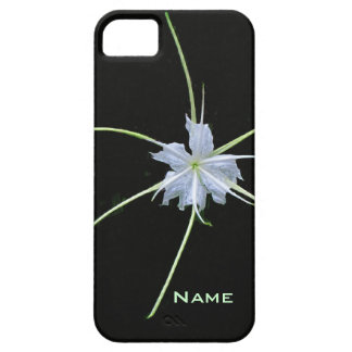 White Lily on Black iPhone Case