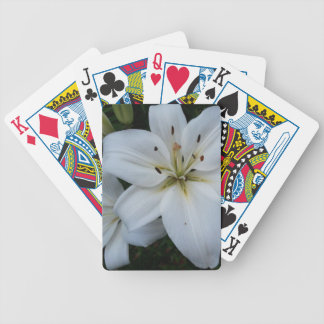 White Lily Playing Cards