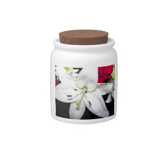 White lily up close candy jar