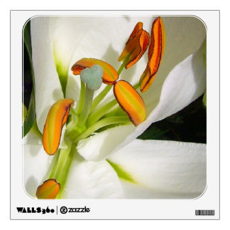 White Lily Wall Decal