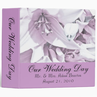 White Lily Wedding Photo Album Binder