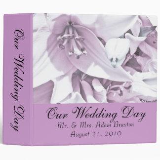 White Lily Wedding Photo Album 3 Ring Binders