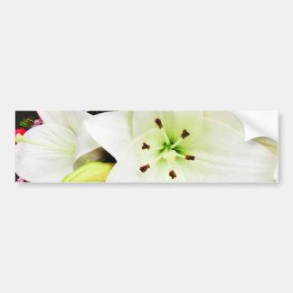 White Lilys_ Bumper Sticker
