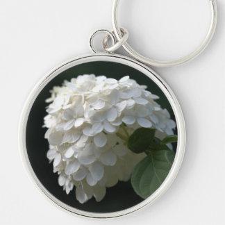 White Lime Hydrangea Large Premium Keychain