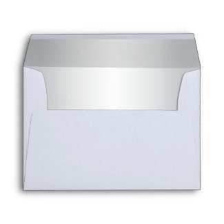 White Linen and Silver A7 Envelope for 5x7 Sizes envelope