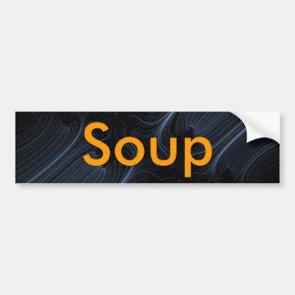 white-lines-fractal, Soup Bumper Sticker