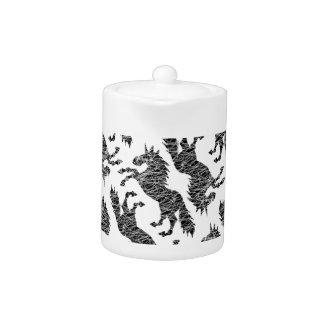 White Lines Unicorn Teapot