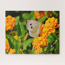 White Ling Butterfly. Jigsaw Puzzle