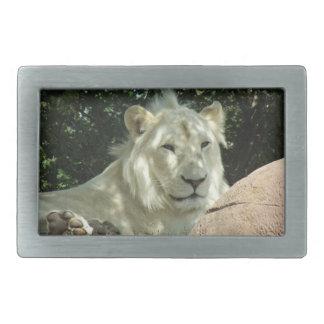 White Lion Belt Buckle