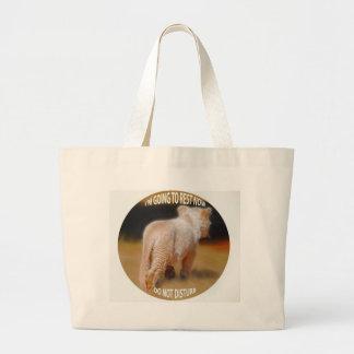 White Lion Cub Tote Bags