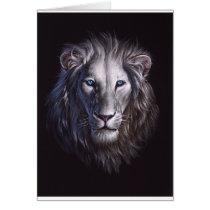 White Lion Face Portrait