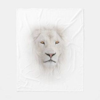 White Lion Head Fleece Blanket