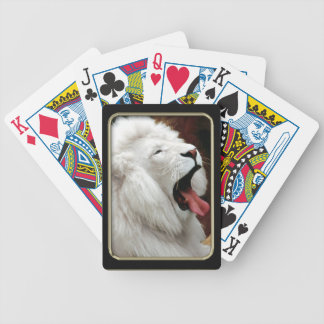 White Lion Photo Art Playing Cards