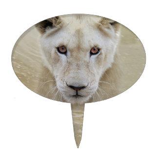 White Lion Spirit Warrior Africa Cake Topper