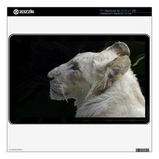 White Lion Wild Cat Lion-Lover Laptop Skin