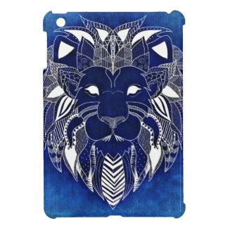 White Lion With Blue Background iPad Mini Case