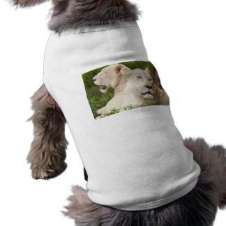 White Lionesses Dog Tee