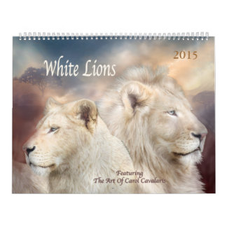 White Lions Art Calendar 2015