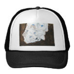 White Lions looking out Mesh Hat