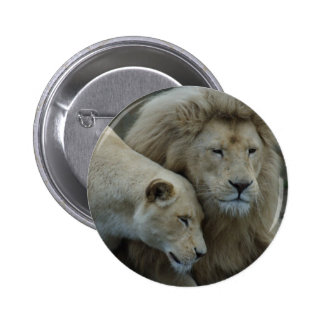 White Lions Pinback Button