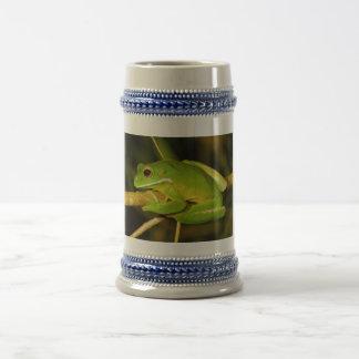 White Lipped Tree Frog Litoria Infrafrenata Beer Stein