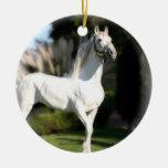 White Lippizaner Horse Ornament