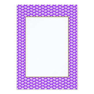 White Lips On Super Bright Neon Purple Card