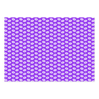 White Lips On Super Bright Neon Purple Large Business Card