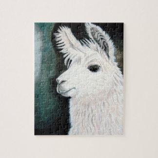 White Llama Jigsaw Puzzle