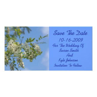 White Locust Flowers Wedding Save The Date Card