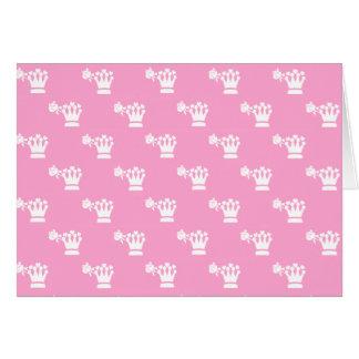 White Logo Pattern Pink BG Card