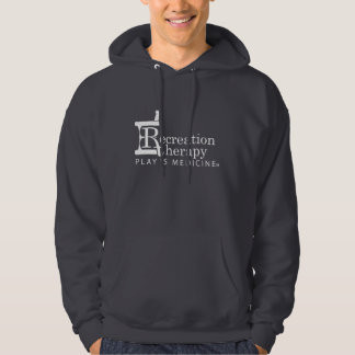 White Logo Recreation Therapy Hoodied Sweatshirt